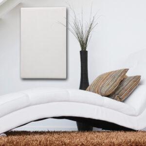 Termoarredo radiante cemento design bianco 50x80 cm