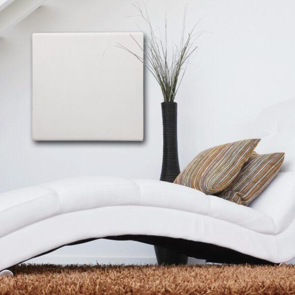 Termoarredo radiante cemento design bianco 60x60 cm