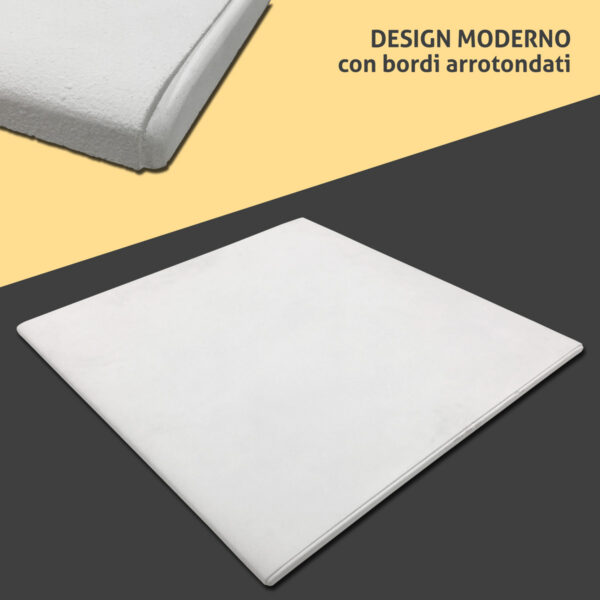 Termoarredo radiante cemento design bordi arrotondati
