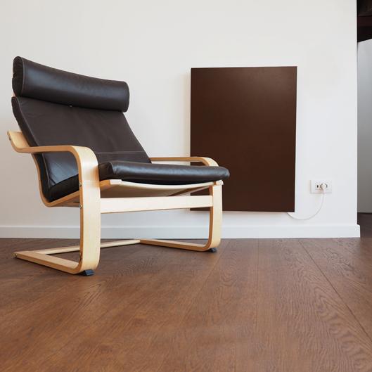 Termoarredo radiante elettrico ferro design colore corten 60x90 cm