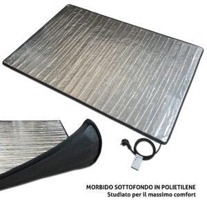 Sottotappeto riscaldante elettrico alluminio alta efficienza fondo isolato